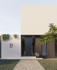 modern house Minimal Home, House Front, Entrance, Minimalism, Exterior, Flooring, Outdoor Decor, Modern, Furniture