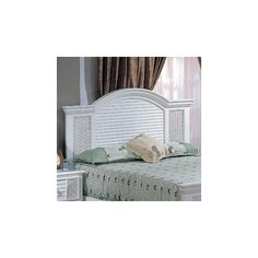 Hospitality Rattan Wheel Queen Footboard in White - 404-5912 WHT