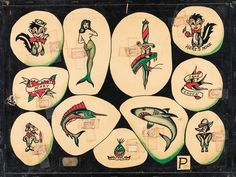 Artwork from 'Vintage Flash Tattoo: 100 Years of Traditional Tattoos from the Collection of Jonathan Shaw', published by powerHouse Books