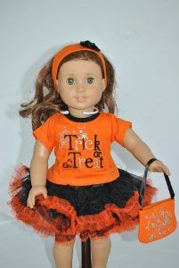 Amazon.com: Trick or Treat Halloween Costume for 18 Inch Dolls Including the American Girl Line: Toys & Games