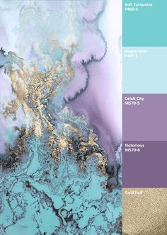 water colour combinations gold purple mint - Google Search