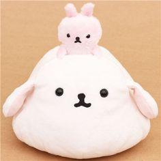 funny Mofutans mochi bunnies white and pink rabbit San-X plushie