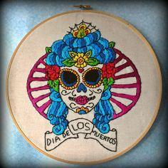 Dia De Los Muertos  Mexican Day of The Dead by FawnandSquirrel, $42.00