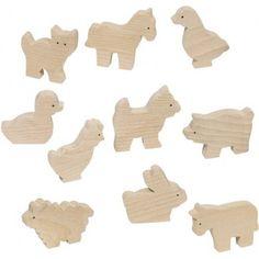 Figuras de madera Animales de la Granja para pintar