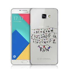 Stranger Things Christmas Light Alphabet RUN Plastic Cover For Samsung A3 A5 A7 J1 J5 J7 2016 S3 S4 S5 mini S6 S7 Edge Plus