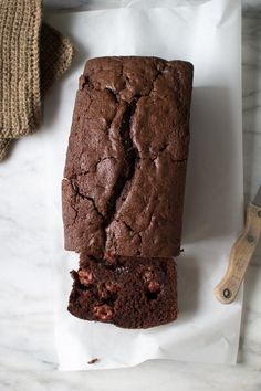 Chocolate Raspberry Loaf Cake