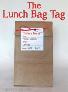 Lunch Bag Tag