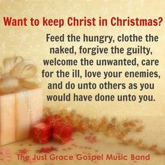Keep Christ in Christmas.