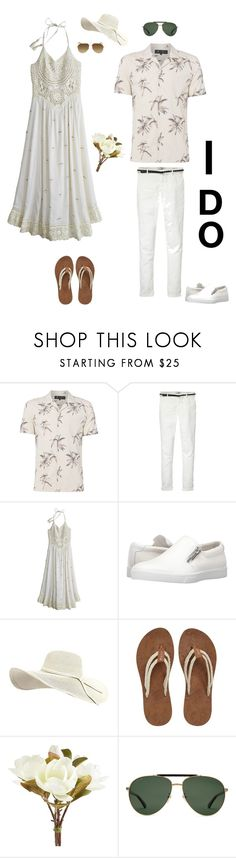"""""""Summer Wedding"""" by kotnourka ❤ liked on Polyvore featuring Label Lab, Maison Scotch, Calypso St. Barth, Calvin Klein, Sakroots, Pier 1 Imports, Gucci and Yves Saint Laurent"""