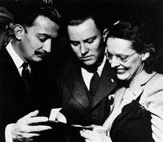 LeRoy's Pink Fist -- Pennsylvania: A. Reynolds Morse and Eleanor Morse with Salvadore Dali