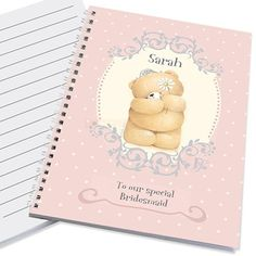 Personalised Forever Friends Bridesmaid Notebook  from Personalised Gifts Shop - ONLY £7.95