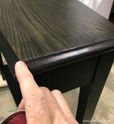 Black furniture paint and black wood stain make the perfect pair. Black furniture is timeless and one of the easier painted furniture finishes to achieve.