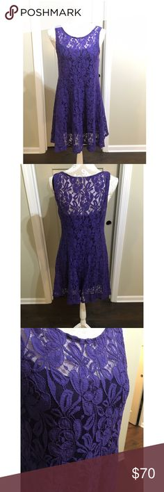 Free people dress This lace dress with under slip is beautiful for anyone ! Free People Dresses Mini