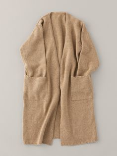 ARTS&SCIENCE : Buttonless Long Cashmere Cardigan