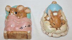 Pendelfin Bunny rabbits Bunnies Dodger and Twins Vintage Lot figurines