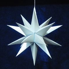 20 point Paper Moravian Star Pattern and Instructions.