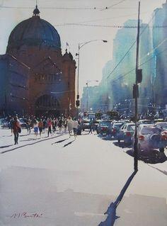 Contemporary Art Gallery Melbourne Australia :: Malcolm Beattie - Watercolourist :: 4