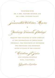 Shattering Chevrons - Signature White Textured Wedding Invitations in Umber or Smoke | Baumbirdy