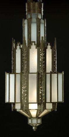 Art Déco - Luminaire - Lustre - Années 30
