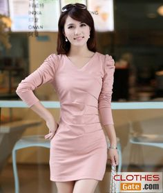 Korean Autumn Slim thin ladies hot drilling long-sleeved dress - See more at: http://www.clothesgate.com/korean-autumn-slim-thin-ladies-hot-drilling-long-sleeved-dress