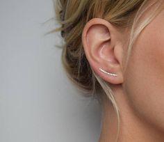 Ear Climber Ear Crawler Ear Cuff Silver Ear Climber