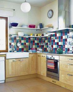 Colorful Kitchen Backsplashes | 39 Best Colorful Kitchen Backsplashes Images Tile Decorating