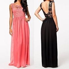 Buy Flobo Lace-Panel Maxi Dress at YesStyle.com! Quality products at remarkable prices. FREE WORLDWIDE SHIPPING on orders over US$35.