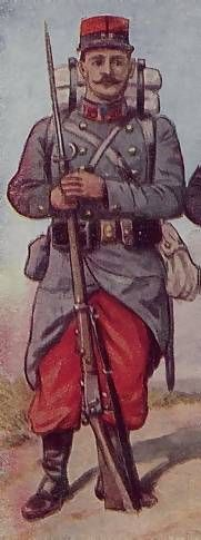 French World War I uniform depiction (Edwardian Period)