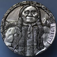 ELMER VILLARIN HOBO NICKEL - CHIEF GALL HUNKPAPA - NO DATE BUFFALO NICKEL Hobo Nickel, Buffalo, Buddha, Carving, Nyc, Statue, Wood Carvings, Sculptures, Printmaking