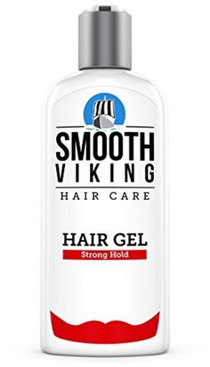 Hair Gel for Men - Strong Hold Styling Product - Adds Body & Shine - Good for All Hairstyles - Trendy, Curly, Straight, Wavy & Modern - Works on Wet, Dry, Thin or Thick Hair - Smooth Viking - 8 OZ by Smooth Viking -- Awesome products selected by Anna Churchill