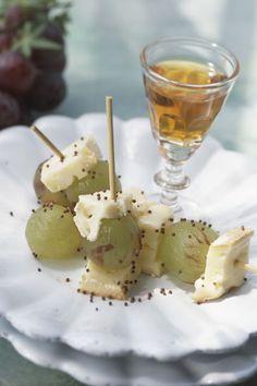 Minibrochetas dulces de fruta