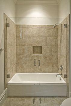 Bathtub Shower Ideas : Tub Shower Travertine Shower Ideas Pictures on twisites