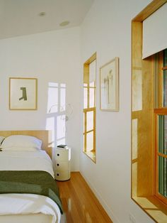 Boerum Hill House, Brooklyn - modern - Bedroom - New York - Jordan Parnass Digital Architecture ---- window trim Modern Bedroom Design, Modern Interior, Interior Design, Bedroom Designs, Modern Bedrooms, Interior Rendering, Luxury Interior, Baseboard Styles, Baseboard Trim