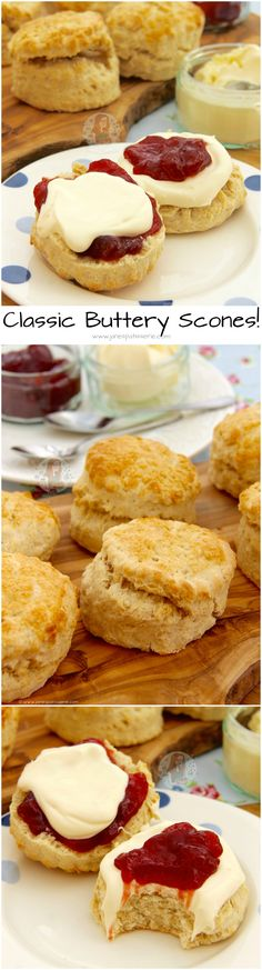Classic Buttery Scones! ❤️ Scones that are delicious for Afternoon Tea, a Delicious Treat, or something simple.