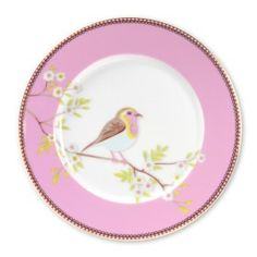 "Made of Grade A white porcelain, these charming 8"" diameter dessert plates are also available in blue!"