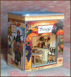 "This 1/4"" scale kit coordinates with our Gather Together holiday vignette kits. COLLECT THEM ALL! INCLUDES: Laser cut wood, electrical kit, wallpaper, flooring and all the artwork. Finished Size: appr"