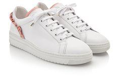 YEYE RUFFLE (L) - White Leather-Pink Trim   NUBIKK®   Official webshop