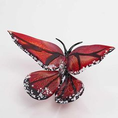 """Monarch""   Art Glass Ornament"