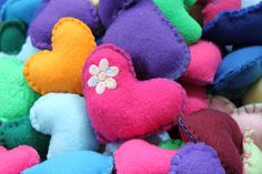 Pocket Hearts - small fleece craft project. Add a loop and make into an ornament or part of a baby mobile!