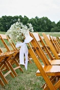 Babys breath on chairs <3