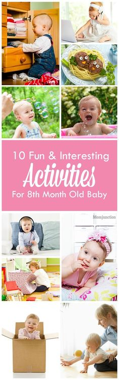 Fun And Interesting Activities For Your 8th Month Old Baby: The joy of watching your little baby grow, laugh and respond to your talks, trying to crawl and sleep beside you cannot be expressed in words.Here we bring you a list of some really good 8 months baby #activities to try out that will help them achieve a new milestone of development.