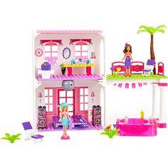 Mega Bloks Barbie Build 'n Style Beach House Play Set