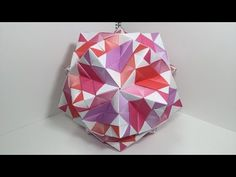 【Kusudama】Dakuraudo 2A 30 pieces【Modular Origami】49【だーくらうど2A】 - YouTube