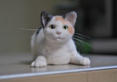 Needlefelted cat by Helen Rogers (December 2010)
