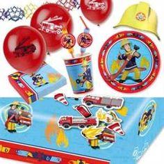 RZOnlinehandel - Mottopartyset Feuerwehrmann SAM für bis zu 8 Kinder - 63-teilig Party Set, Cookie Decorating, Kids, Party, Police Party, Seeds, Dekoration, Toddlers, Young Children