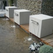 Water feature: contemporary, concrete imi-beton