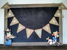 Sweet Baby Burlap Banner Nursery Bunting Sign by SweetThymes, $34.00