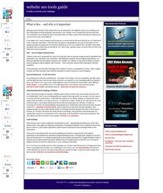 seo pressor, consumer wealth system, niche finder >> website seo tools --> http://websiteseotoolsguide.com