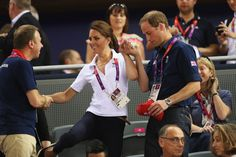 Will helped Kate keep her balance during the 2012 Olympics. | The Royal Couple's Cutest PDA Moments | POPSUGAR Love & Sex