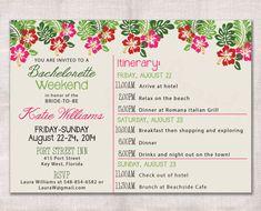 Bachelorette Party Weekend invitation and by DarlinBrandoPress